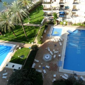Skol apartments, Marbella – external photos of the gardens, pools etc.